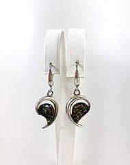Серьги серебряные с янтарем 593EAS-z