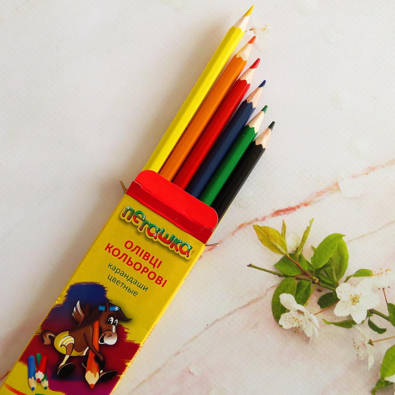 Олівці Marco Пегашка 6 кольорів
