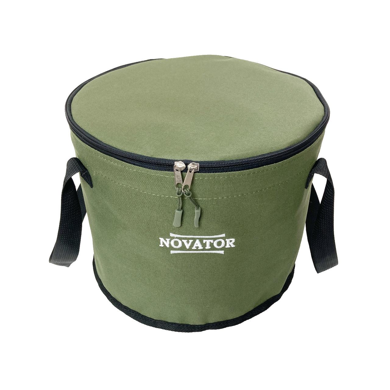 Відро для підгодовування з кришкою Novator VD-2 (30x23 см)