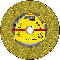 Круг отрезной арм. A 24 Extra, 230х3,0х22,23, Klingspor 13492