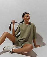 Женский стильный костюм: футболка и шорты, фото 1