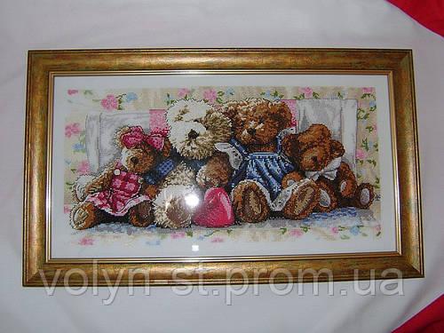 """Вишита картина""""Ведмедики Тедді"""""""