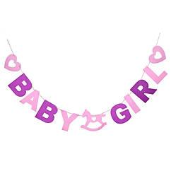 Гірлянда-розтяжка BABY GIRL бейбі шауер