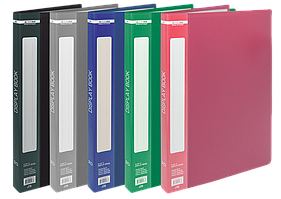 $Папка пластиковая с 20 файлами А5 ассорти