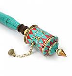 Молитвенный барабан на ручке инкрустированный камнями, фото 2