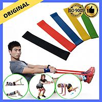 Набор резинок для фитнеса и тренировок Эспандеры 5 лент чехол Эластичные ленты сопротивления резинки ног рук