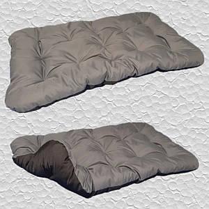 Лежак для собак мелких, средних и крупных пород, двусторонний. Спальное место для собаки. Цвет: Серый + Черный