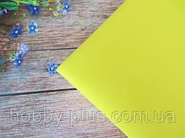 Фоамиран 1 мм, 50х50 см, колір ЖОВТИЙ