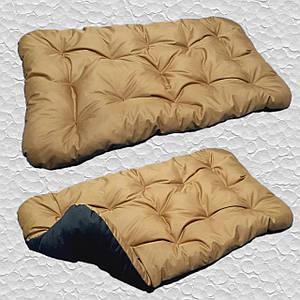 Лежак для собак мелких, средних и крупных пород, двусторонний. Спальное место для собаки. Цвет: Койот + Черный
