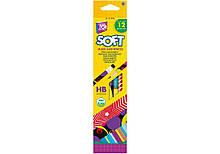 Карандаш графитовый HB с ластиком (набор 12шт) Softy Арт. CF15140