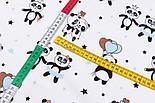 """Лоскут фланели """"Панды с голубыми шариками"""", размер 37*120 см, фото 3"""