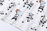 """Лоскут фланели """"Панды с голубыми шариками"""", размер 37*120 см, фото 4"""