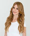 Волосся на трессе 50 см. Колір #27 Золотий Блонд, фото 4