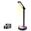 Настільна світлодіодна LED лампа з бездротовою зарядкою Qi Сучасна Smart лампа для офісу навчання вдома, фото 3