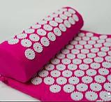 Масажний акупунктурний килимок з подушкою   Масажер для спини і ніг OSPORT   Аплікатор Кузнєцова, фото 5