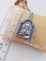 Серебряная икона  Св. Николая Чудотворца