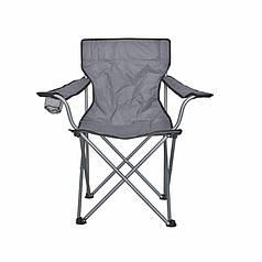 Розкладне крісло Lesko S5432 Gray туристичне складне для дачі риболовлі