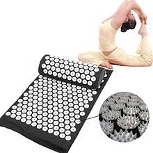 Масажний акупунктурний килимок з подушкою   Масажер для спини і ніг OSPORT   Аплікатор Кузнєцова