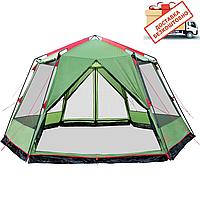 Шатер Tramp Lite Mosquito оливковый TLT-033. Палатка шатер с москитной сеткой. Садовый павильон с москиткой
