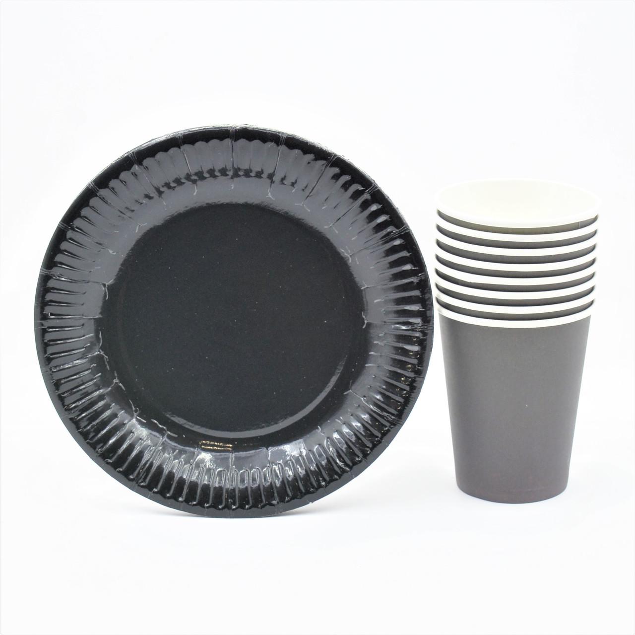 """Набір посуду """"Чорний"""""""