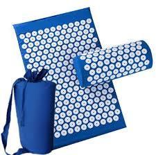 Масажний акупунктурний килимок з подушкою | Масажер для спини і ніг OSPORT | Аплікатор Кузнєцова