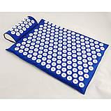 Масажний акупунктурний килимок з подушкою | Масажер для спини і ніг OSPORT | Аплікатор Кузнєцова, фото 5