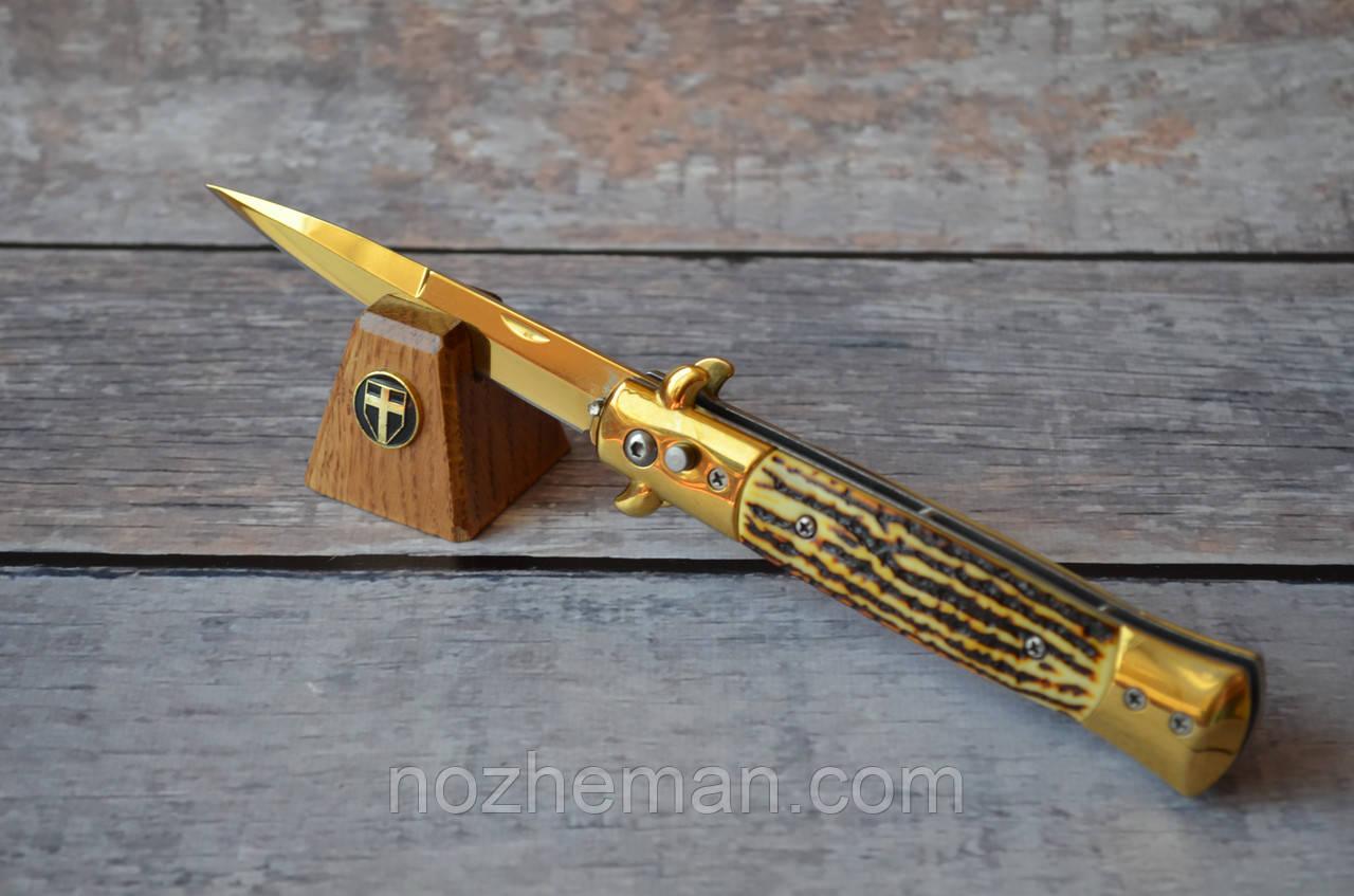 Нож выкидной Сумрак, бокового выброса и клипсой, для удобного ношения