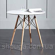 Стіл обідній Стефанія діаметр 80 см, колір білий