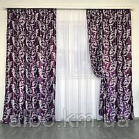 Шторы блэкаут с узором в комнату офис спальню детскую, готовые шторы гардины для зала спальни кухни хола, фото 4
