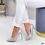 ТОЛЬКО 36 р! Туфли женские белые/ серебро со стразами каблук 10 см, фото 3