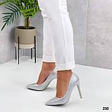 ТОЛЬКО 36 р! Туфли женские белые/ серебро со стразами каблук 10 см, фото 4