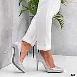 ТОЛЬКО 36 р! Туфли женские белые/ серебро со стразами каблук 10 см, фото 2