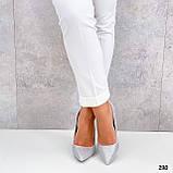 ТОЛЬКО 36 р! Туфли женские белые/ серебро со стразами каблук 10 см, фото 5