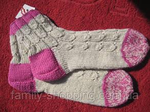Шкарпетки вовняні ручної роботи. р. 36-37