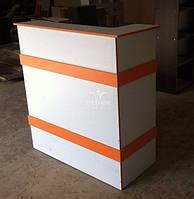 Ресепшн стійка з оранжевим декором Модель V37