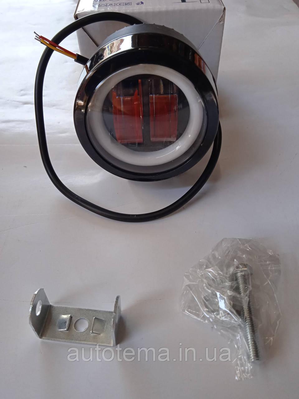 Светодиодная  автомобильная LED фара 20 вт Лидер