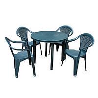 Набор садовой мебели Tondo 1 стол + кресло Altea 4 шт производство Италия цвет зеленый