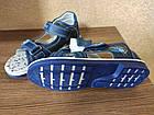 Кожаные ортопедические босоножки для мальчиков ТомМ, детские синие сандалии с каблуком Томаса, фото 8