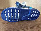 Кожаные ортопедические босоножки для мальчиков ТомМ, детские синие сандалии с каблуком Томаса, фото 3