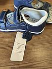 Кожаные ортопедические босоножки для мальчиков ТомМ, детские синие сандалии с каблуком Томаса, фото 6