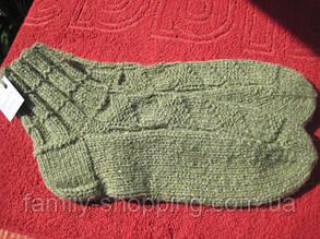 Шкарпетки вовняні в'язані ручної роботи, р. 45-47