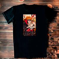 """Черная футболка с принтом надписью """"Аниме Наруто. Пейн. Акацуки"""""""