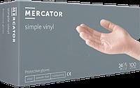 Перчатки виниловые неопудренные Mercator Simple Vinyl (S)