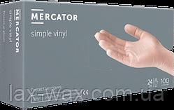Перчатки виниловыенеопудренные Mercator Simple Vinyl (S)