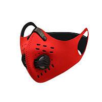 Спортивная маска-респиратор со сменным угольным фильтром PM 2.5 пылезащитная, фото 1