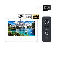 Комплект відеодомофона Neolight NeoKIT HD Pro WiFi Black