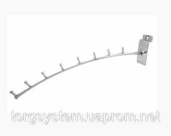 Кронштейн похилий дугоподібний для економпанелі на 8 гвоздиків. L- 350мм