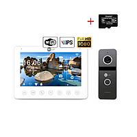 Комплект відеодомофона NeoLight NeoKIT HD+ WiFi Graphite