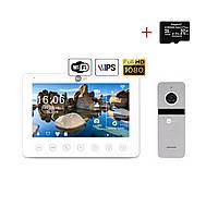 Комплект відеодомофона NeoLight NeoKIT HD+ WiFi Silver