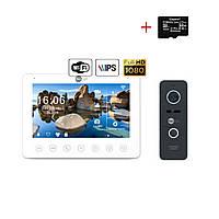 Комплект відеодомофона NeoLight NeoKIT HD+ WiFi Black